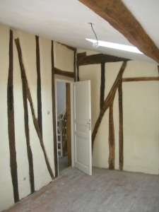 Timber frame in bedroom