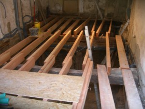 Douglas fir floor joists